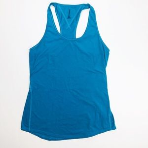 Lucy teal layering racerback tank active workout